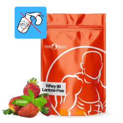 Whey 80 lactose free 1 kg stevia|Strawberry